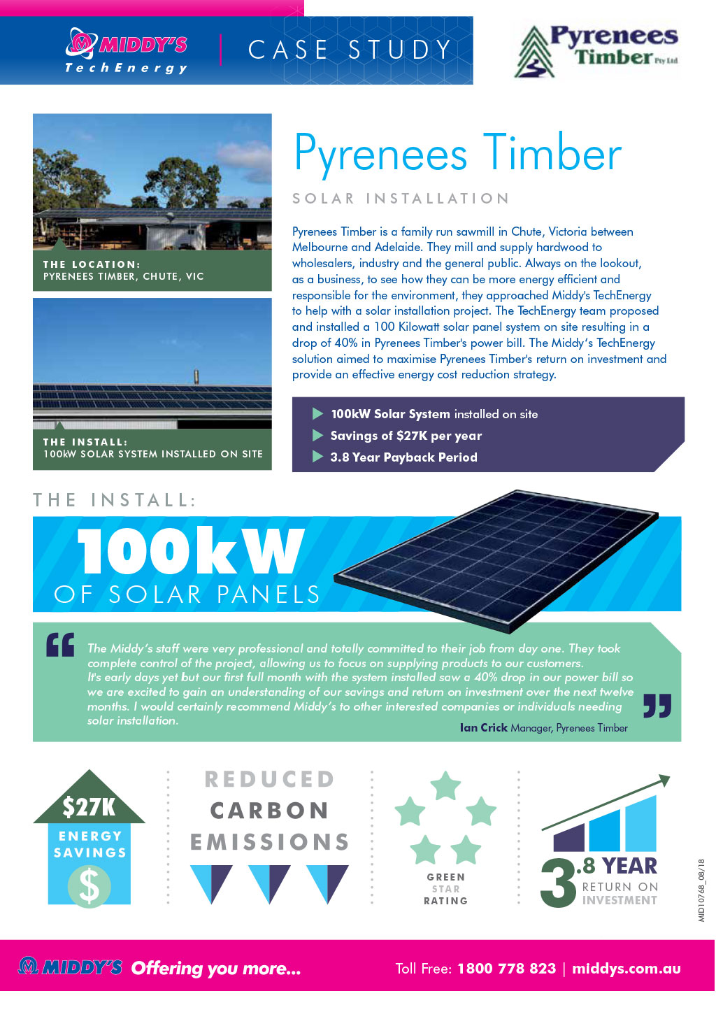 Pyrenees Timber Solar Installation Case Study